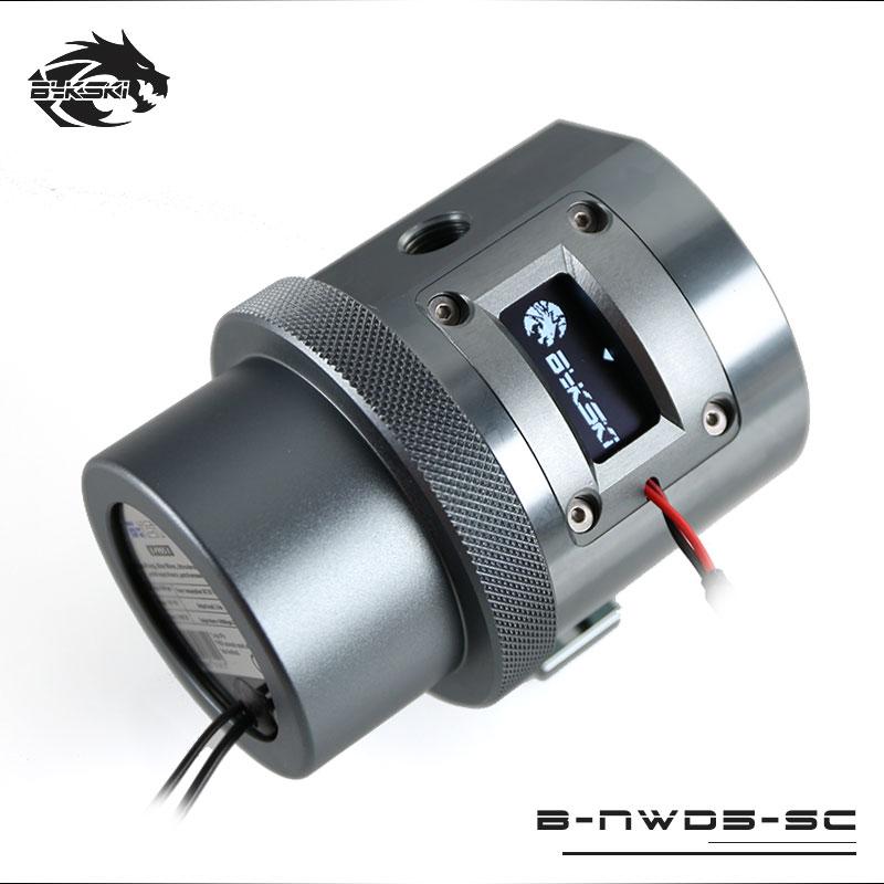 Bykski B-NWD5-SC Water Cooling Pump With Temperature Sensor Display D5 MCP655 1100L/1500 3.8M Gray