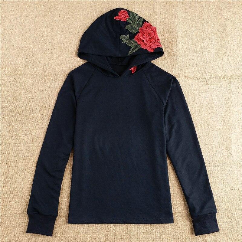 HTB1MlijRVXXXXa2XpXXq6xXFXXX1 - FREE SHIPPING Floral Black Women Sweatshirt Hoodie JKP221