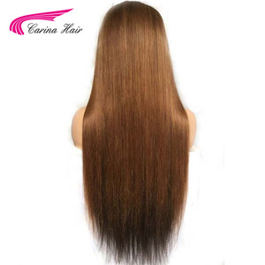 Image 3 - Carina Brazilian Lace Front Human Hair Wigs Pre plucked 13*3 Ombre 1b/33  Remy Hair Lace Wigs With Highlights
