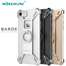 Nilkin for iPhone 6 6s 7 Case NILLKIN Barde Metal Plated Bumper Cover with Kickstand Ring Holder for Apple iPhone 6 6s 7 Plus