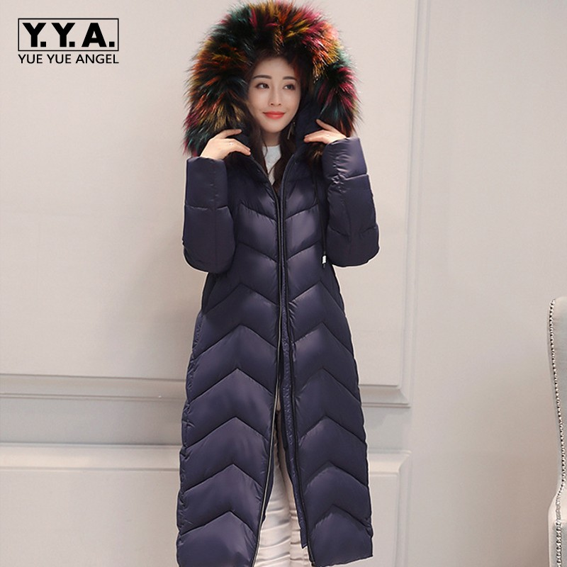 2017 New Winter Faux Fur Hoody Female Jacket Long Style Slim Fit Womens Overcoat Warm Parka Casual Down Jacket Outerwear Coats men ultra light large size thin parka jacket korean black cardigan china hoody winter overcoat slim warm military manteau homme