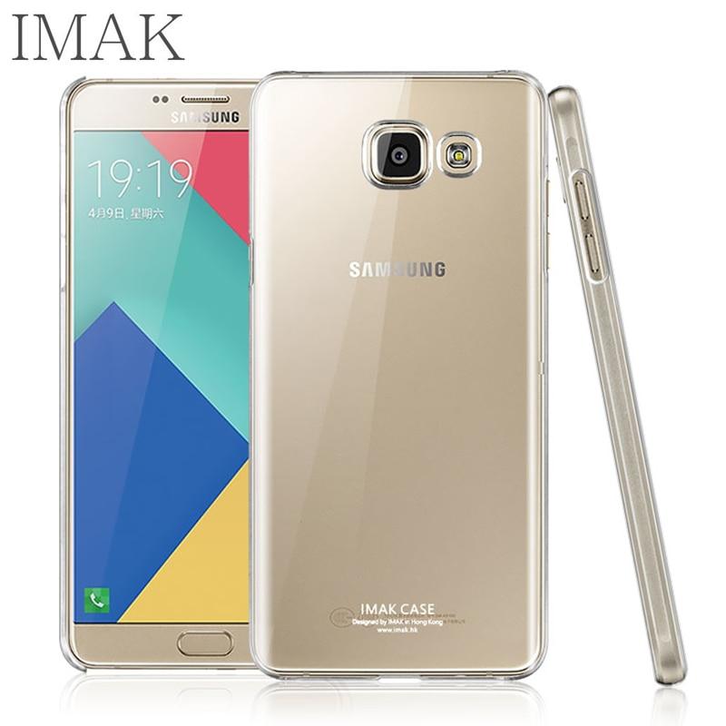 IMAK Cas De Telephone Pour Samsung Galaxy A9 Pro A9100 Couvercle Transparent Dur PC Cristal Durable Coque Protection Antichoc Suivi Code Dans Sur