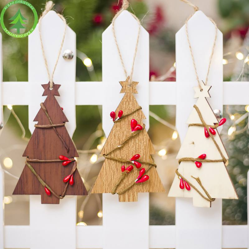 Christmas Tree Decorations Wooden Hanging Christmas