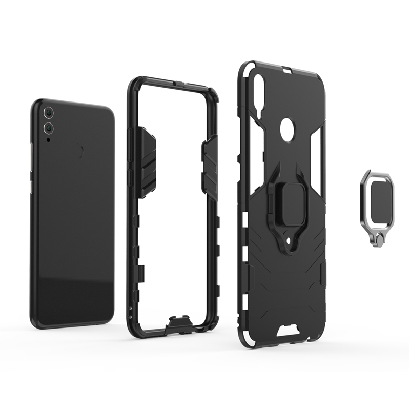For Cover Huawei Honor 8X Case Magnetic Finger Ring Kickstand Hard Phone Bag Case For Huawei Honor 8X Cover For Honor 8X 9X Case in Fitted Cases from Cellphones Telecommunications