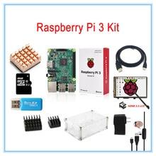 Малина Pi 3 комплекта/3.5 дюймов HDMI ЖК-дисплей Сенсорный экран + прозрачный чехол + 2.5A Питание + 8 ГБ TF карта + радиаторы + HDMI кабель