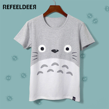 Totoro Female Summer Short Sleeve Cotton T shirt