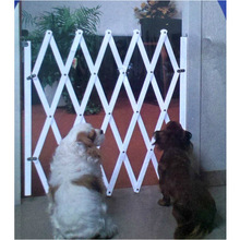 Manufacturers direct simple installation of pet isolation door wooden fence dog with sliding