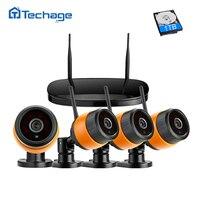 New Techage Plug And Play 4CH Wireless NVR CCTV System 4PCS 1200TVL Outdoor 720P IR P2P