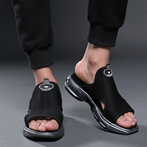 Image 5 - Summer air cushion shock flip flops men shoes hollow mesh sandals men breathable Beach shoes quality male sneakers outdoor 38 44