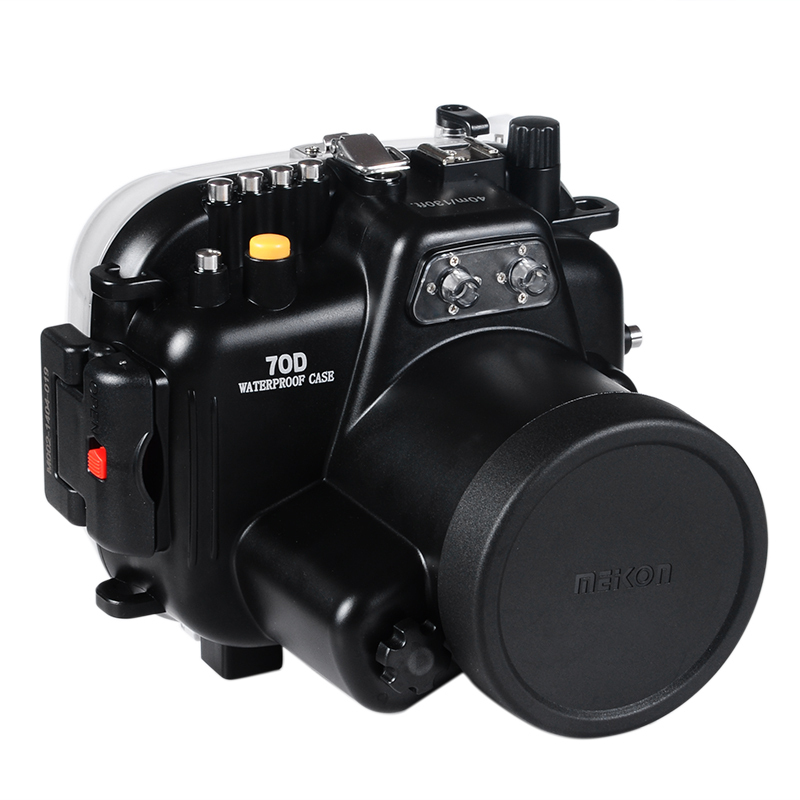 MEIKON Waterproof Underwater Housing Camera Housing Diving Case  for Canon 70D 18-135mm Lens meikon underwater diving camera waterproof housing case for canon g15 as wp dc48