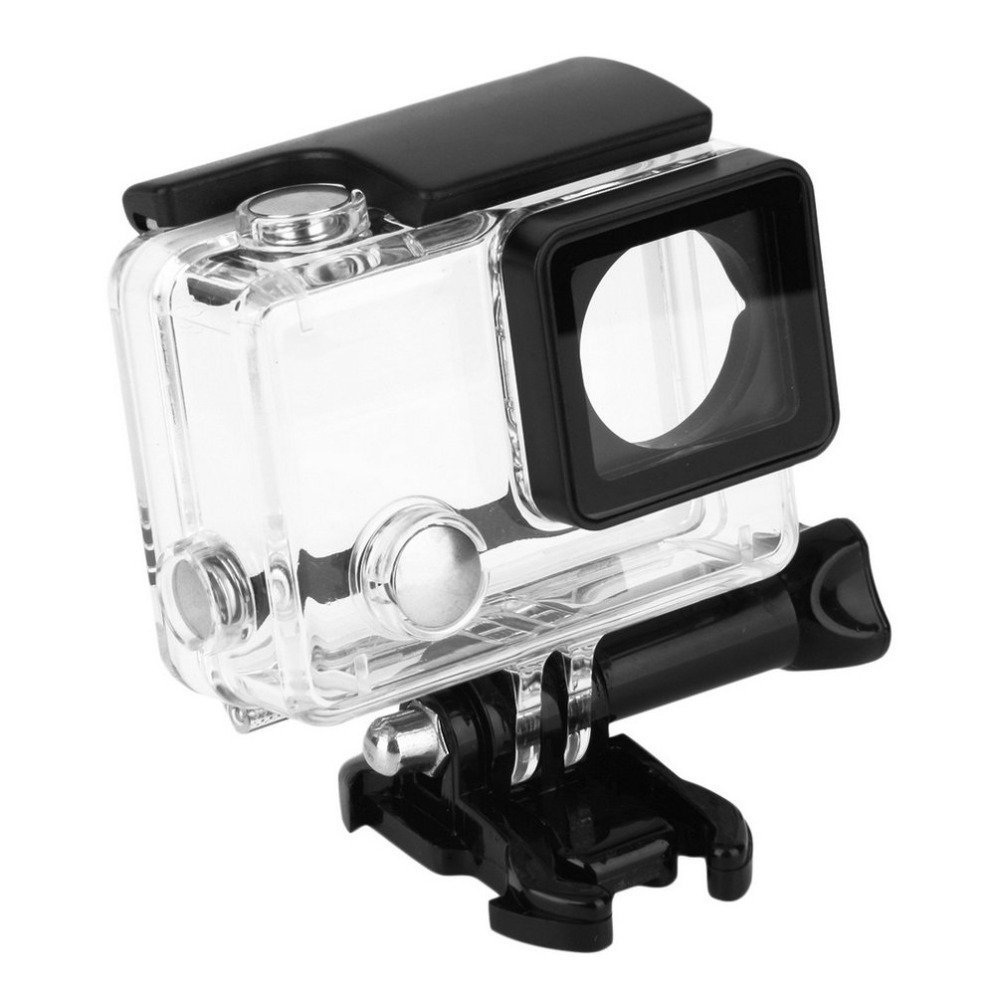 High Quality Underwater 30 Meters Waterproof Diving Protective Housing Case Cover for GoPro Hero 4 In stock! hottest waterproof cover diving protective housing underwater case for gopro hero 3 4