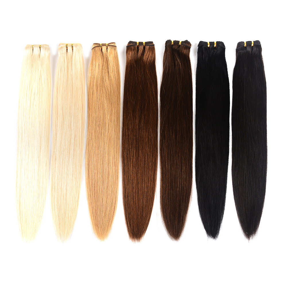 Doreen Machine Made Remy Human Hair Weave Bundles 1/2/3 Pcs #1B #2 #4 #8 #27 #60 #613 Blonde Hair Bundles 20 22 24 26