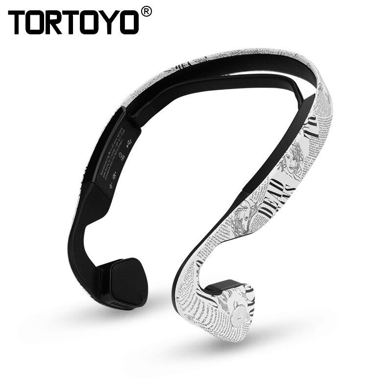 TORTOYO LF19 écouteur Bluetooth à Conduction osseuse intelligente sport musique en cours d'exécution casque sans fil casque pour iPhone Huawei