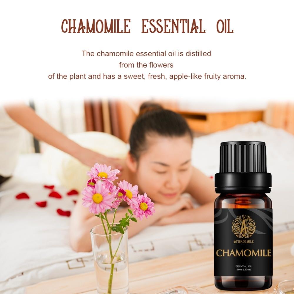 100% Chamomile Pure Essential Oil 10ml Ageless Moisturizing Skin Care Anti Sensitive Acne Scars and Sleep-Aid Essence
