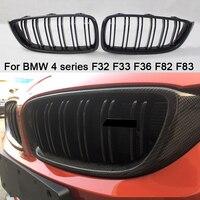 For BMW 4 series F32 F33 F36 F82 F83 M4 F80 M3 420d 430i 430d 440i 435i 428d M4 carbon fiber front ABS kidney bumper grille