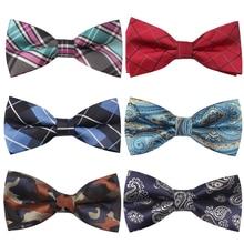 цена на Men Bow Tie Polyester Shirts Bowtie For Men Business Wedding Bowties Bowknot Adult Plaid Bow Ties Vestidos Gravata Borboleta