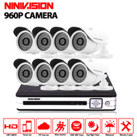 Home 8ch Indoor 960p Security Camera System 8ch CCTV WIFI AHD 1080N DVR NVR Video