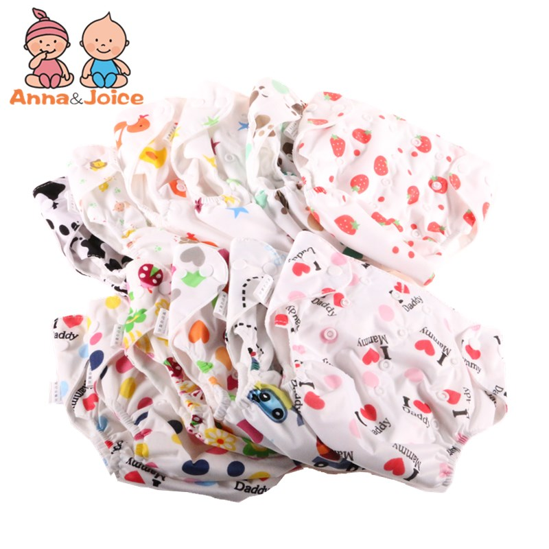 30pcs/ Lot Baby Diapers Cloth Diaper Reusable Nappies Training Pants Diaper Cover Washable Free Size
