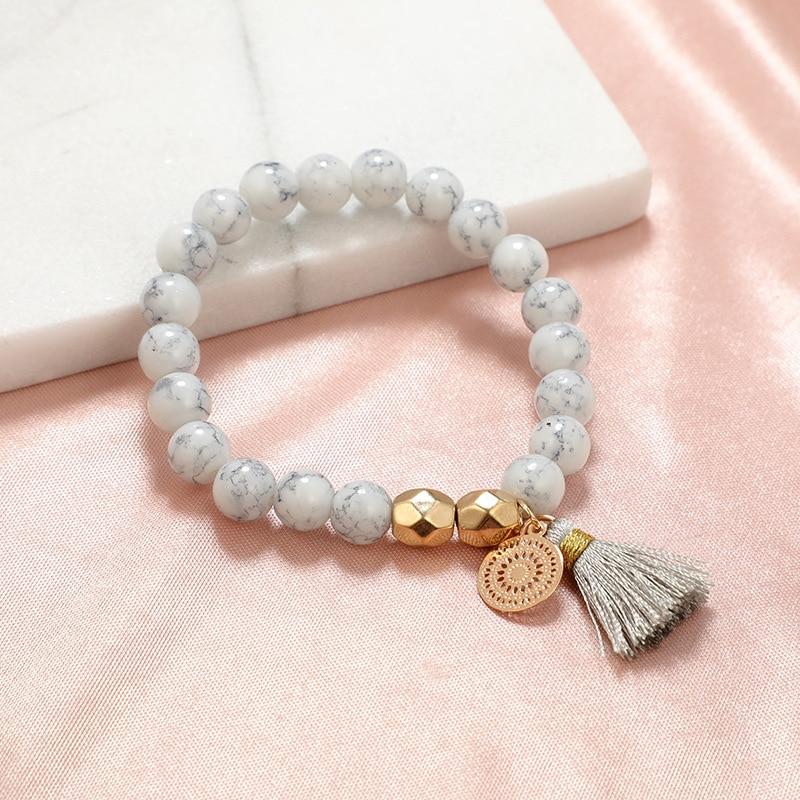 30 Styles Mix Turtle Heart Pearl Wave LOVE Crystal Marble Charm Bracelets for Women Boho Tassel Bracelet Jewelry Wholesale 8