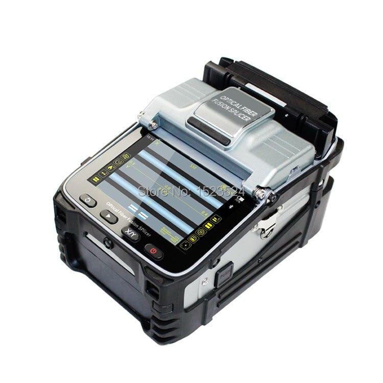 SM & MM Multi-língua Seis Motores Automático Inteligente FTTH Fibra Óptica Emenda Máquina Splicer Fusão de Fibra Óptica