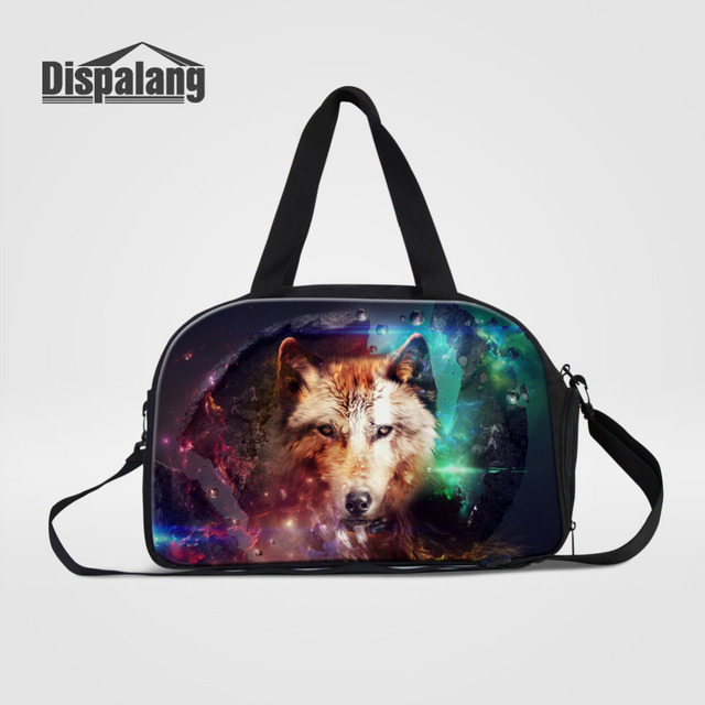 Dispalang Men Travel Bags Carry on Luggage Bags Wolf Animal Print Womens  Duffel Bags Travel Tote Large Weekend Bag Overnight-in Travel Bags from  Luggage ... de92960fbc0f3