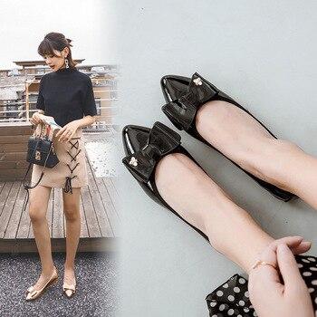 CHN PING JIA REN zapatos de mujer zapatos planos con lazo de cien y arriba zapatos planos de Omelette zapatos planos puntiagudos para mujer