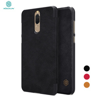 NILLKIN For Huawei Mate 10 Lite Phone Case Qin Series Leather Folio Card Holder Flip Cases
