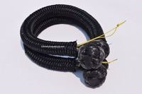 2 unids Negro 9mm * 120mm UHMWPE Suave Grillete, Cuerda Grillete, ATV Winch Grillete para Off carretera, Cable de la Cuerda Sintética Del Torno
