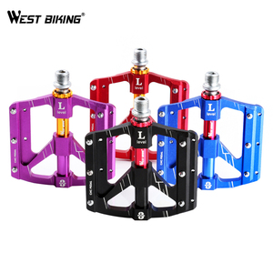 Image 3 - WEST BIKING 3 Bearings Bicycle Pedals Ultralight Anti slip CNC Road MTB Bike Pedal Cycling Sealed Bearing Bike Pedals