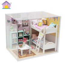 Diy кукольный домик миниатюры Прекрасный деревянный дом строительные модели ручной сборки миниатюрный дом мебель головоломки игрушки для детей