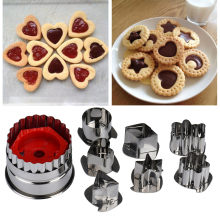 7 Buah/Banyak Cookie Cutter Alat 3D Skenario Stainless Steel Cookie Cutter Set Gingerbread Cake Biscuit Cetakan Fondant Cutter(China)