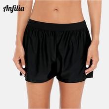 Anfilia Ladies Swimming Shorts Women Tankini bottom Bikini Bottom Ban Swimwear Briefs Boy Split Trunks