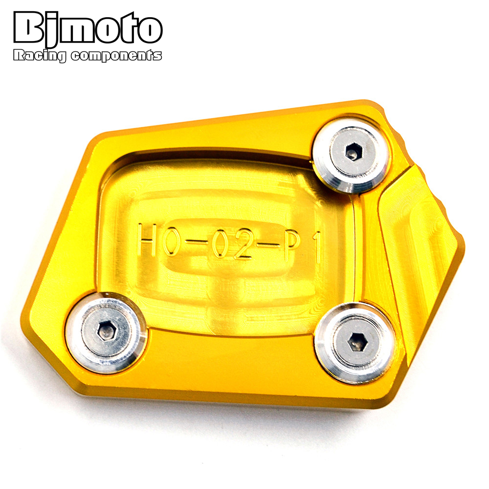 SSE-HD001 CNC Kickstand Side Stand Extension Foot Pad Plate Side Stand Enlarger For <font><b>Honda</b></font> <font><b>CBR</b></font> 600RR 650F <font><b>600F</b></font> 500R 250F CB500F image