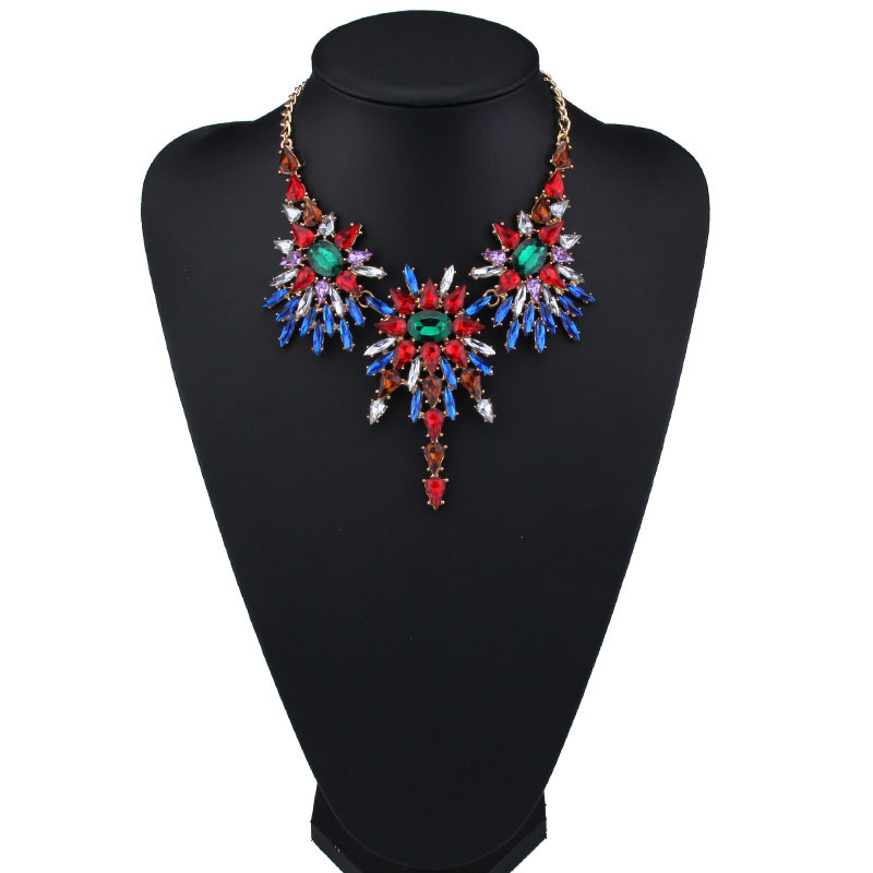 Fashion Necklaces for Women 2017 font b Luxury b font Choker Collars Necklace Pendants Multicolor font