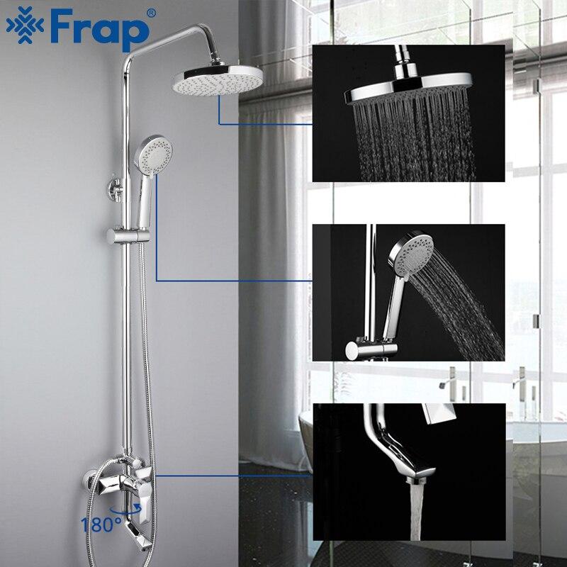 Frap Sanitary Ware Suite Bathroom Shower Faucet Bath Shower Mixer Sets Taps Rainfall Shower Head Set Waterfall Bathtub Faucet Sanitary Ware Suite Aliexpress