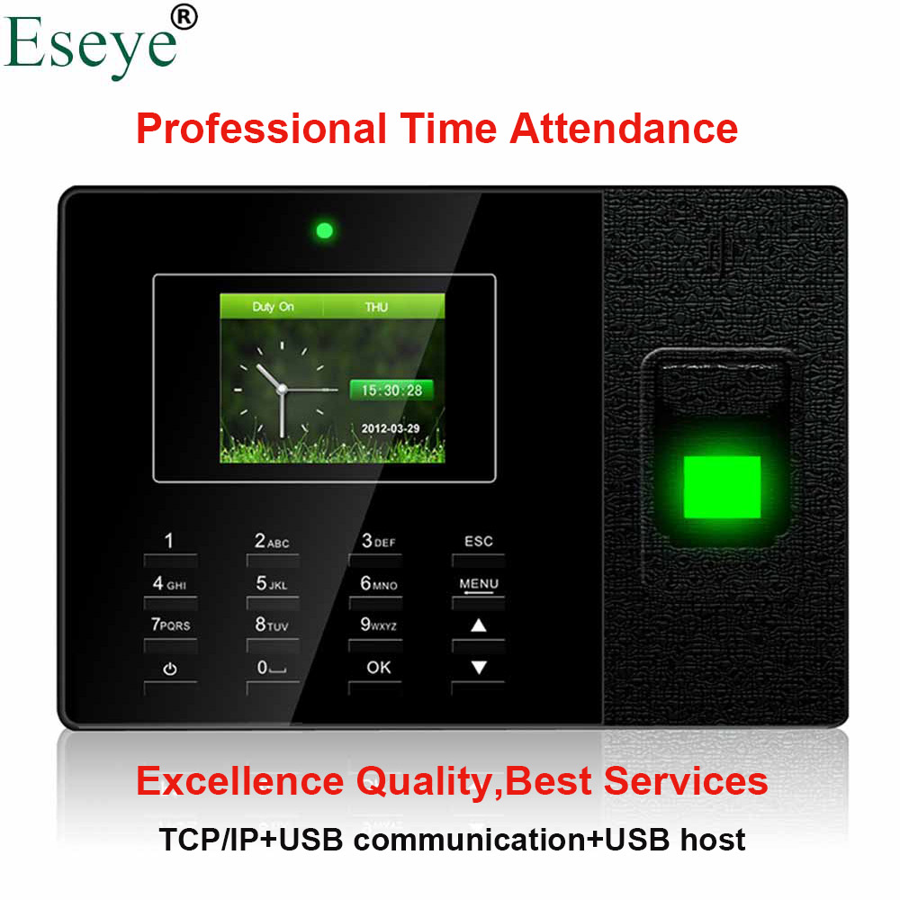 Biometric Fingerprint Time Attendance System Fingerprint Time Clock Recorder Employee Digital Electronic English Spanish Machine st300 fingerprint time attendance time recorder employee attendance system time clock in stock