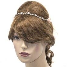 Silver Tone Rhinestone Flower Headbands Jewelry For Bridal Austrian Crystal Tiara Wedding Hair Accessory Gifts New Summer 4927B