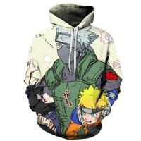 Men/Women The New Hoodies Sweatshirts NARUTO Character Pattern 3D Printing Sweatshirts Hoodie Kakashi Wood/Naruto Jumper