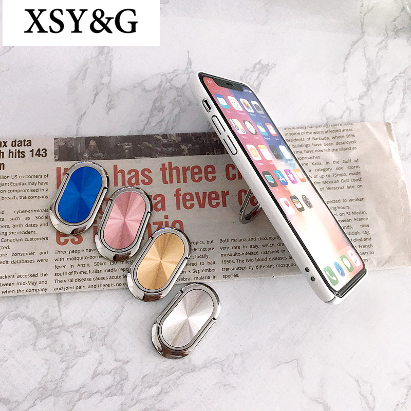 Universal Phone Holder CD Spin 360 Degree Rotation Magnetic Finger Ring Holder For iPhone X Samsung S9 Plus Sockets Lazy Stand