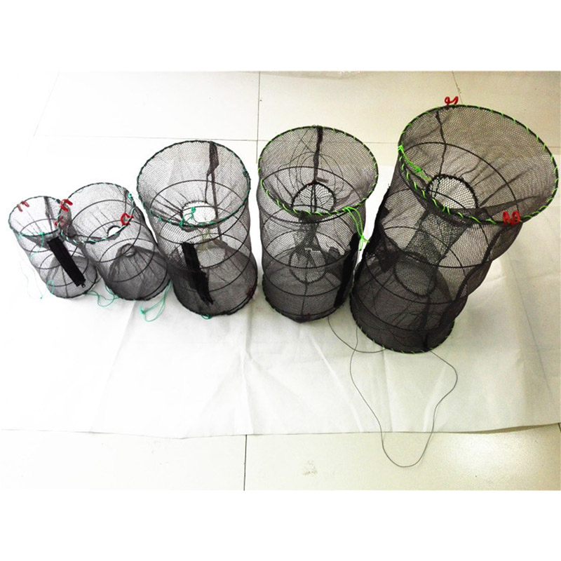 Newly High Quality Fishing Net Crayfish Crab Trap Net Shrimp Lobster Cage Collapsible Portable Fishing Accessories SMN88
