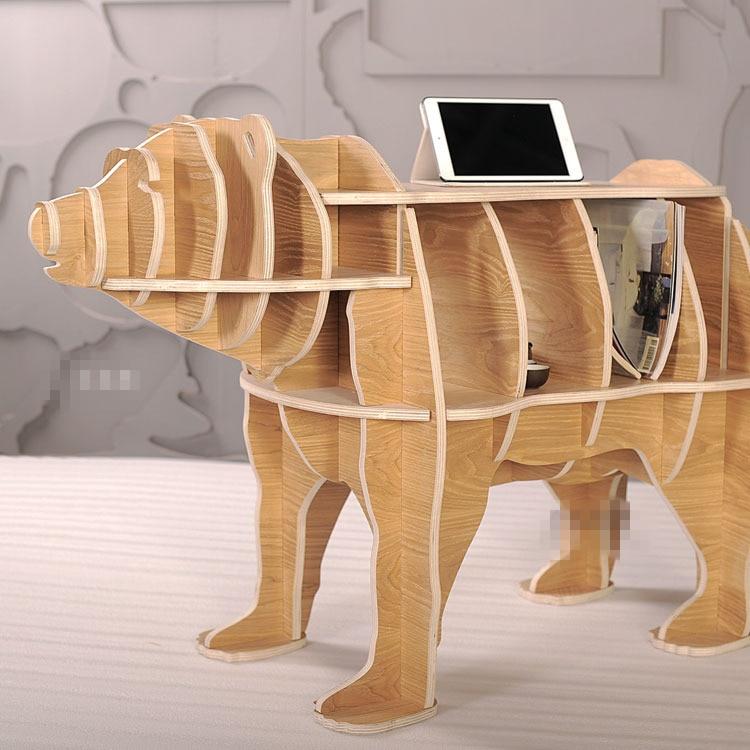 Escritorio de almacenamiento de madera maciza multifunción de 42 - Mueble - foto 2