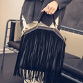 New Arrival 2016 Women PU Leather Tassel Handbag High Quality Shoulder Bags Ladies Fashion Fringe Bag bolso flecos
