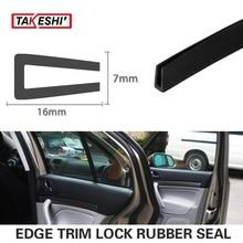 16x7mm U Channel Black Edge RV Trim Rubber Protector Strip pillar 197″ 500cm 16.4ft sales promotion Truck Window Door Seal #58
