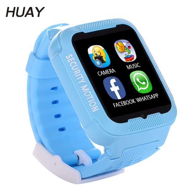 Kid GPS Tracking Smart Watches Waterproof Silicone Bluetooth Camera Kids Monitor Watch 2.5D Touch screen SOS Children Clock K3