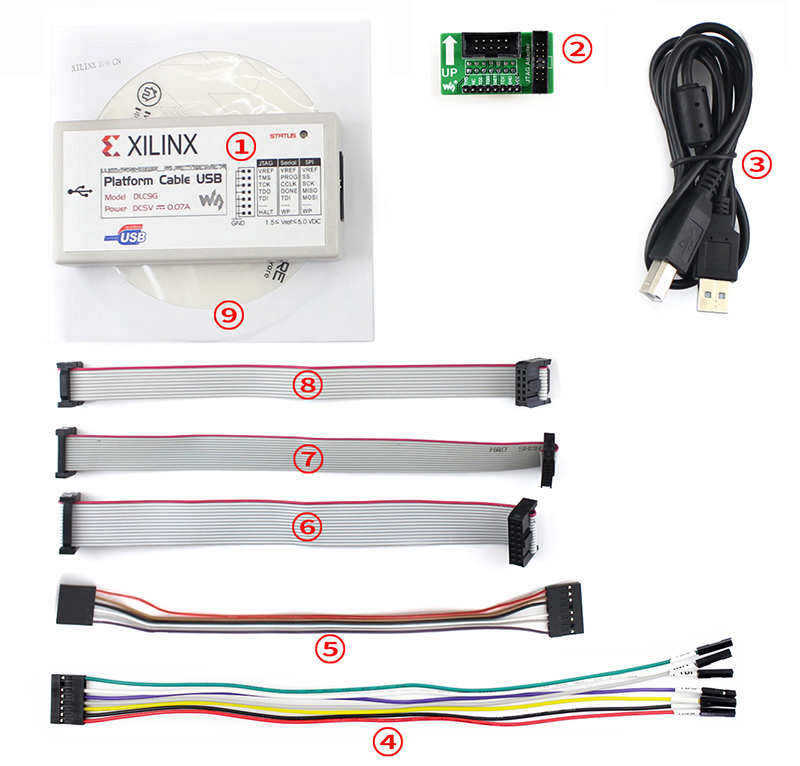 цена на XILINX Platform Cable USB for all Xilinx Devices FPGA PROM/CPLD JTAG Programming Compatible with Original XILINX Platform USB