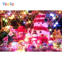 Yeele Christmas Photocall Bokeh Glitters Snowman Photography Backdrops Personalized Photographic Backgrounds For Photo Studio