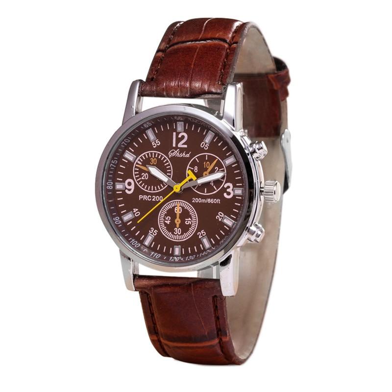 Простой для женщин для мужчин аналоговые кварцевые круглый циферблат искусственная кожа ремешок наручные часы подарок ,17 руб.