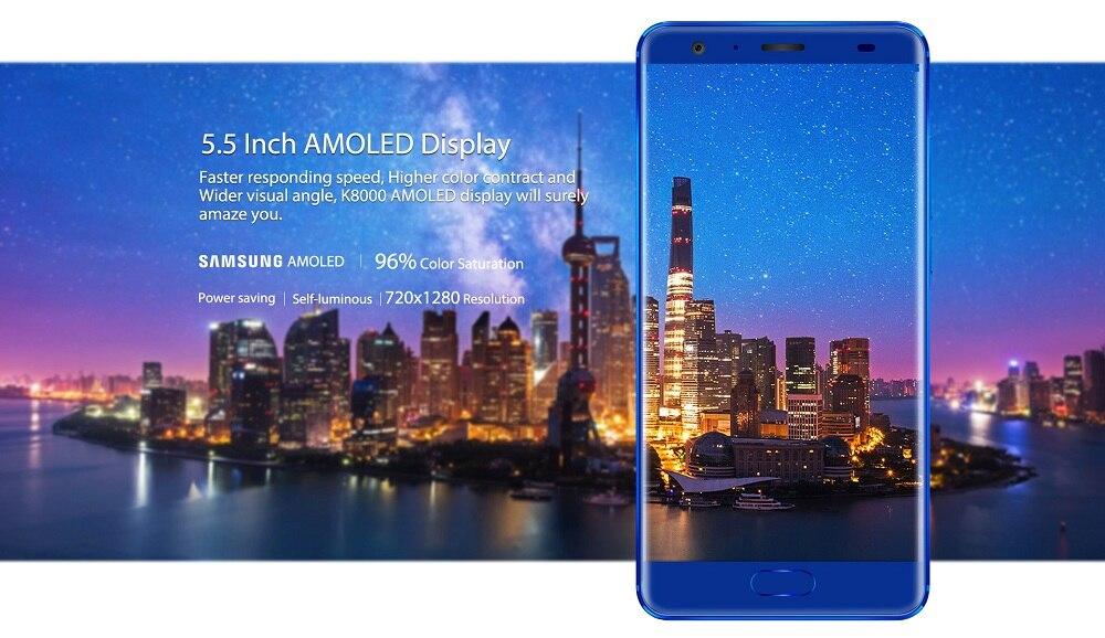 Oukitel K8000 с енергоспестяващ AMOLED дисплей от Samsung