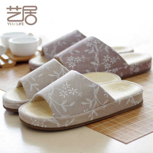 In Us59 Bottomed Men Slippers Habitat And Korean Embroidered Home 08arts Opening Fall Women W Sandals Couple Papyrus Interior For Heavy Shoes nPkX8O0w