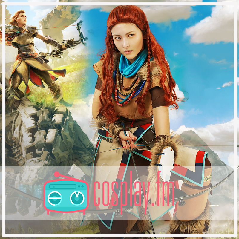 Aloy Cosplay Costume Women Tribe Battle Hunt Outfit